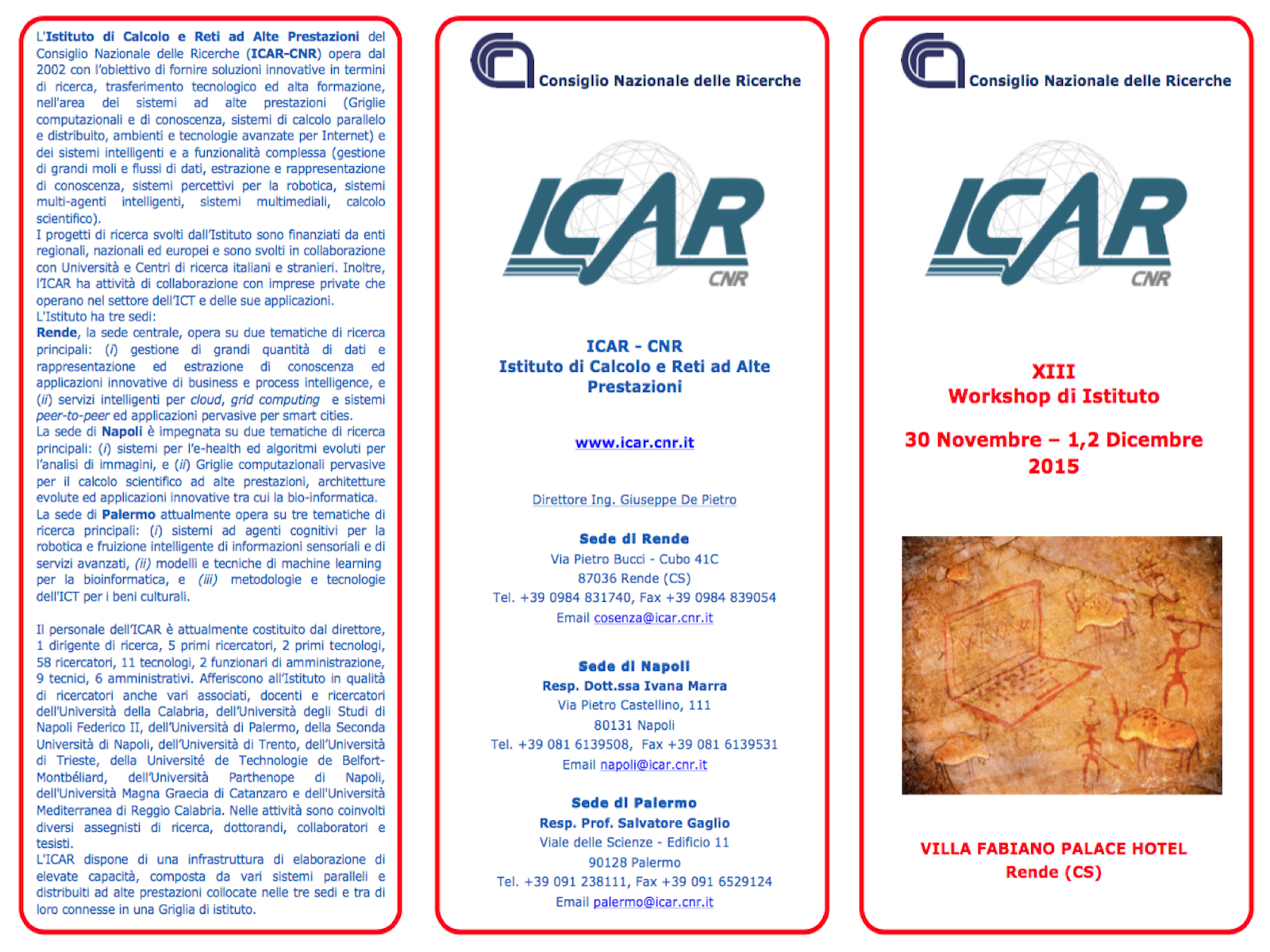 XIII WORKSHOP ICAR