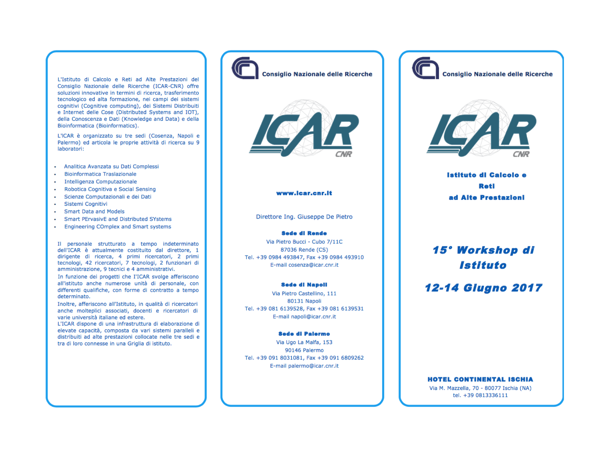 XV WORKSHOP ICAR