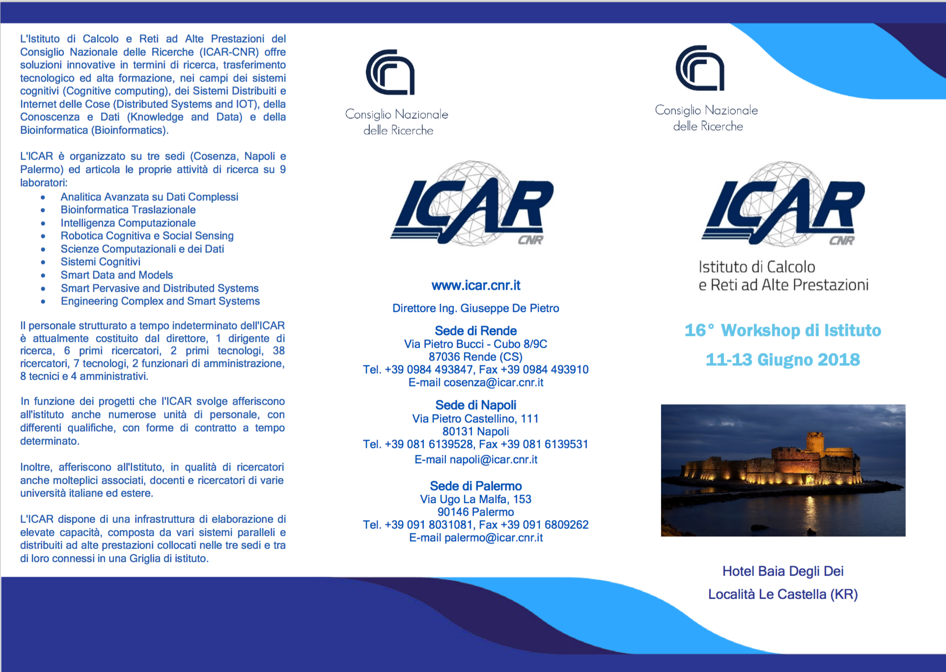 XVI WORKSHOP ICAR