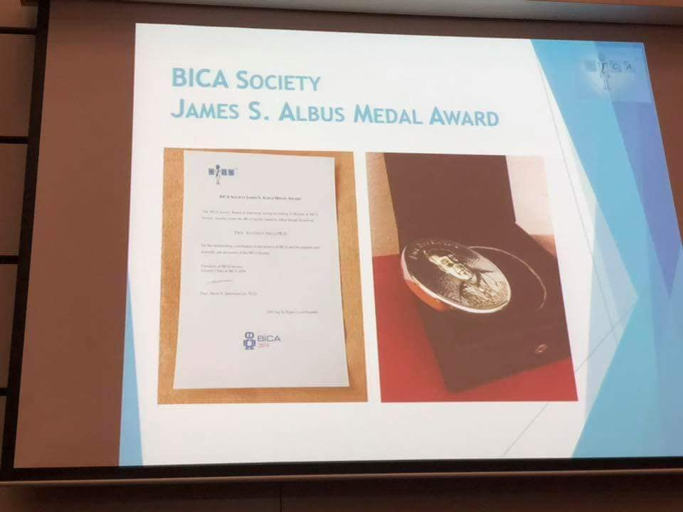 James Albus Medal Award Of The BICA Society