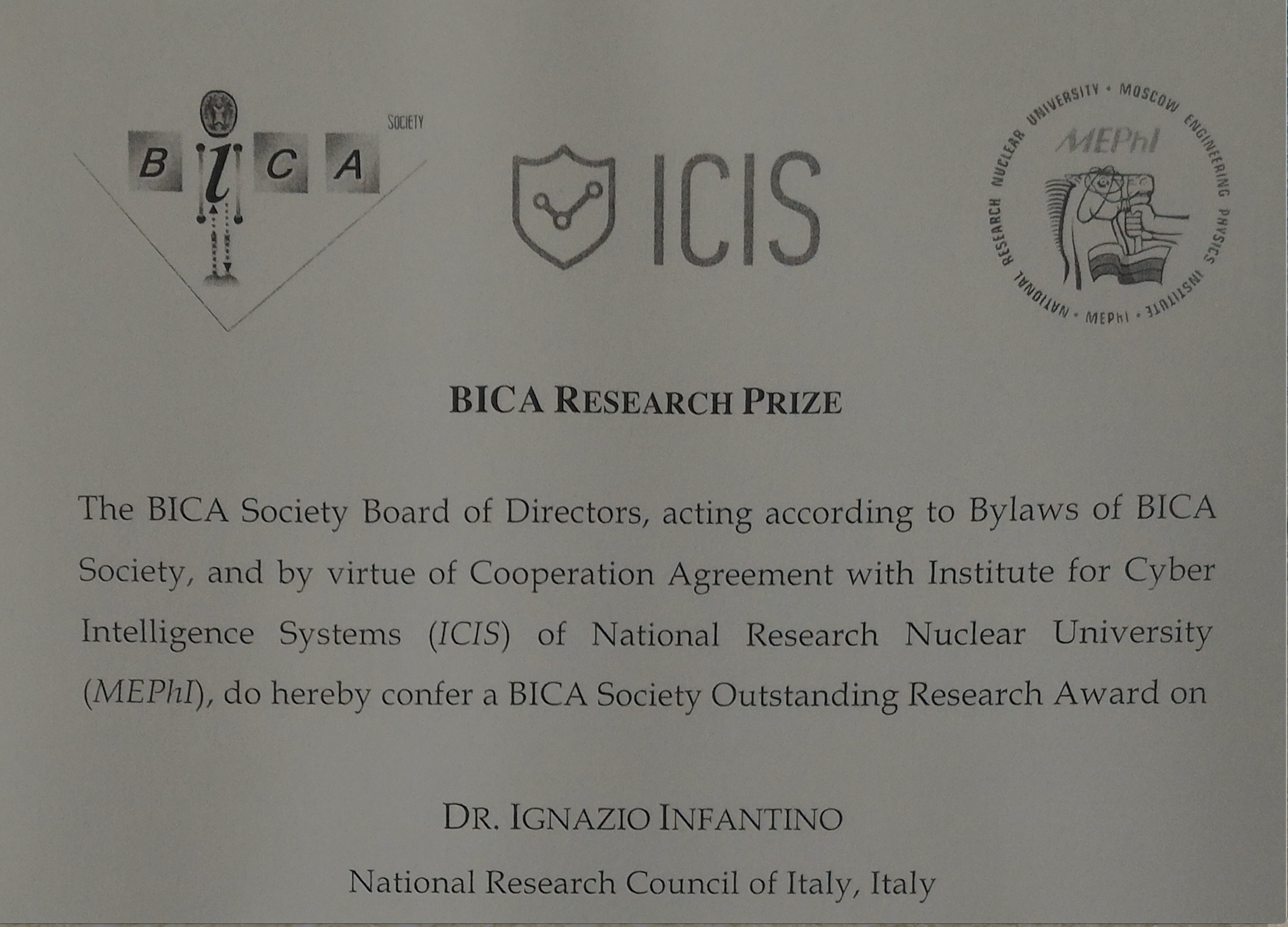 Bica Research Prize