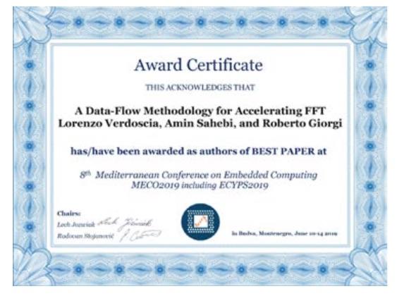Best Paper Award A IEEEMECO 2019