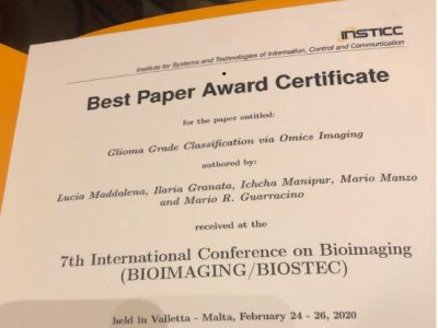 Best Paper Award 7th International Conference On Bioimaging 2020