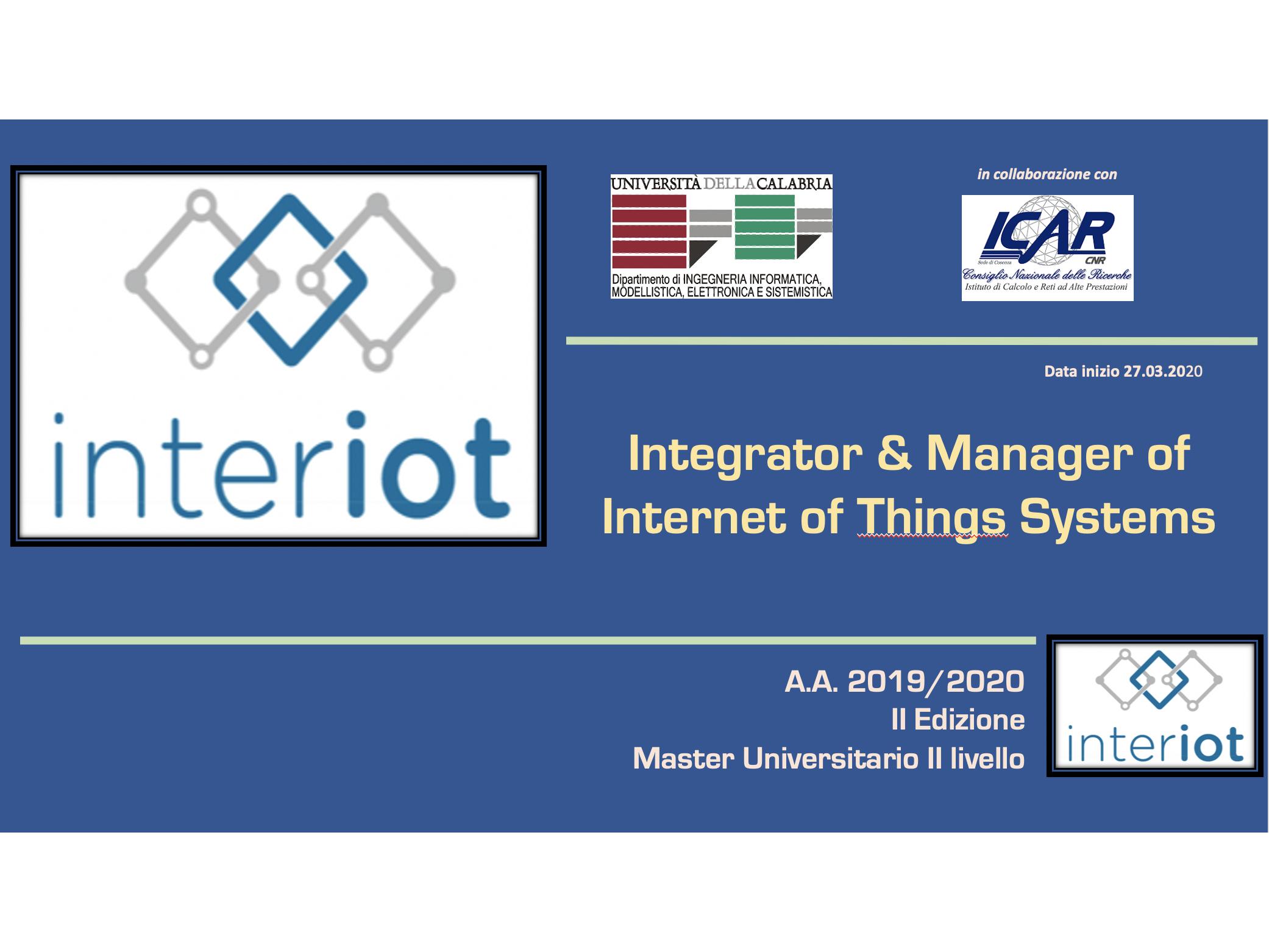 II Edizione Del Master IoT